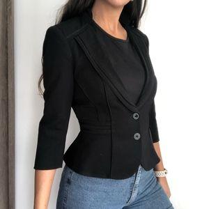 White house black market black fitted blazer 0